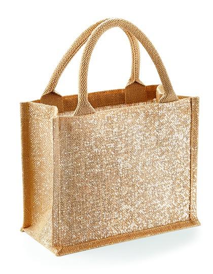 jute:glänzende mini gift bag