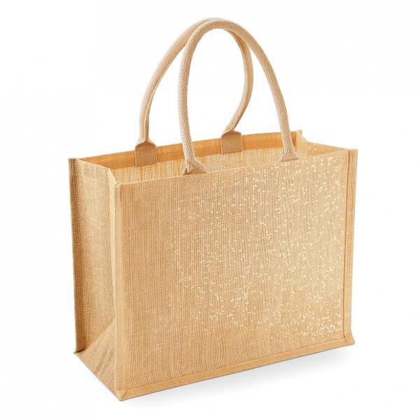 jute:glänzender jute shopper