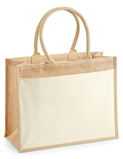 jute:cotton pocket shopper