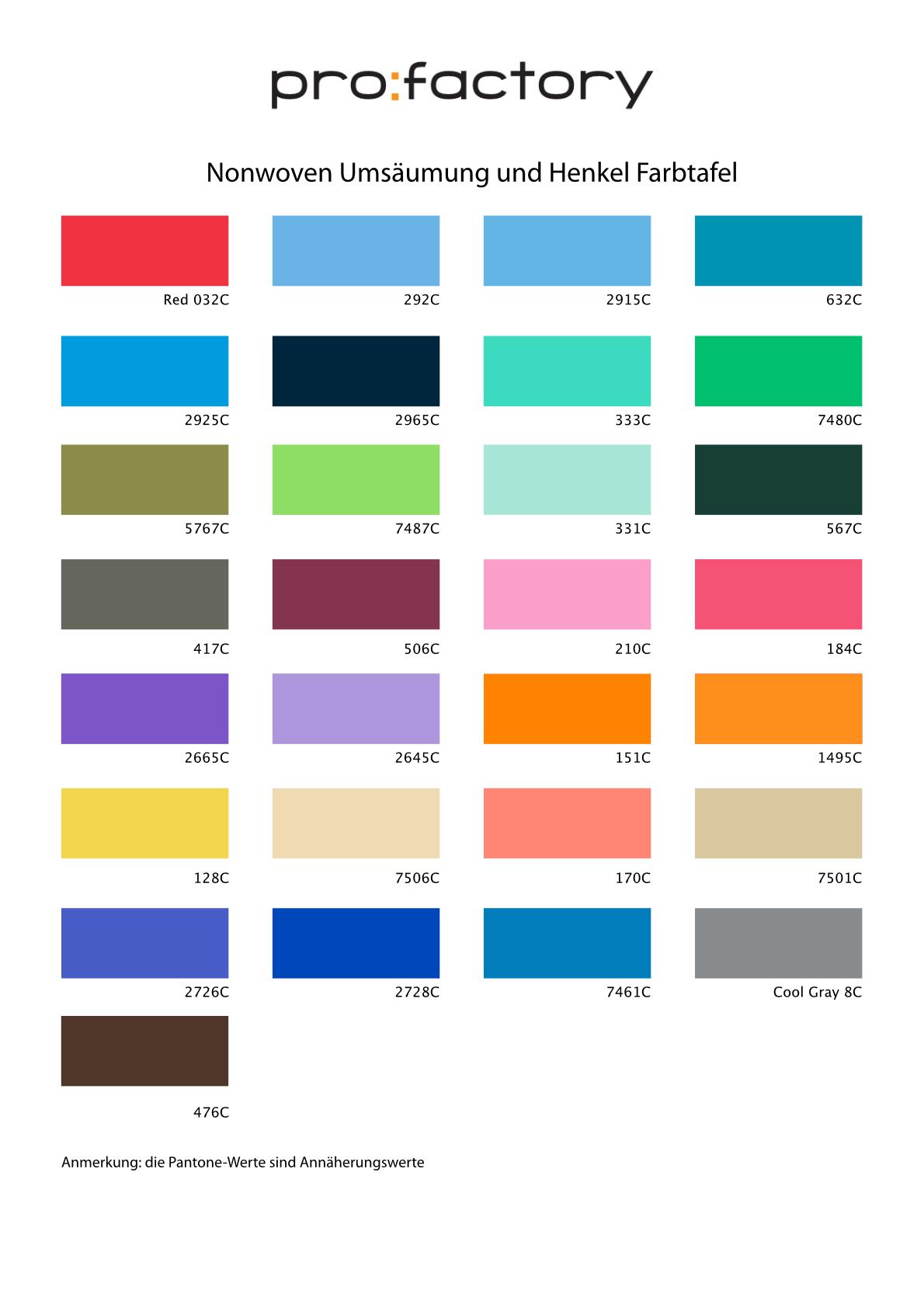 Nonwoven-Taschen-Farbauswahl-Umsaeumung