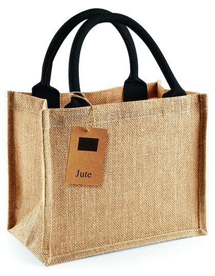 jute:small gift bag multicolor